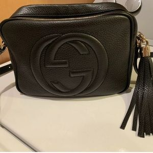 Gucci Black Leather Soho Disco Bag